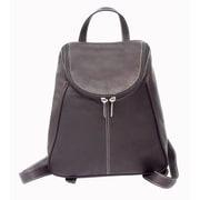Piel U-Zip Flap Backpack; Chocolate