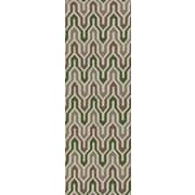Jill Rosenwald Rugs Fallon Spruce Hand-Woven Green Area Rug; Runner 2'6'' x 8'