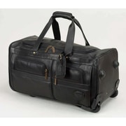 Claire Chase Luggage 22'' 2-Wheeled Leather Travel Duffel; Black