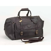 Claire Chase Millionaire's 24'' Leather Carry-On Duffel; Caf