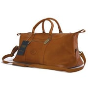 Claire Chase All American 20'' Leather Carry-On Duffel; Saddle