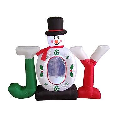 BZB Goods Christmas Inflatable Joy Snowman Snow Globe Decoration