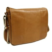 Piel Entrepreneur Messenger Bag; Saddle