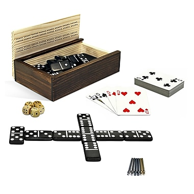 Wood Expressions 10-in-1 Combination Dominoes and More Set