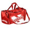 Forever Collectibles NCAA 11'' Travel Duffel; University of Nebraska Cornhuskers
