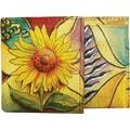Anuschka Mini Coffee Break Wallet; Sunflower Safari