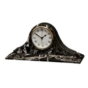 Designs By Marble Crafters Saturn Clock; Black Zebra Marble