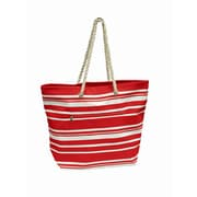 Preferred Nation Stripe Shopping Tote; Red