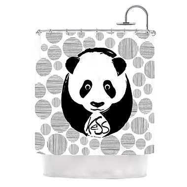 KESS InHouse Panda Shower Curtain
