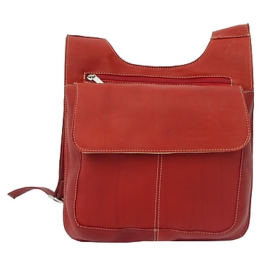Piel Fashion Avenue Slim Line Mail Bag; Red