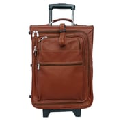 Piel Traveler 19'' Multi-Pocket Wheeler Suitcase; Saddle