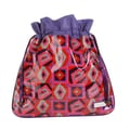 Hadaki Multitasking Water-Resistant Drawstring Pouch; Tic Tac Toe Berry