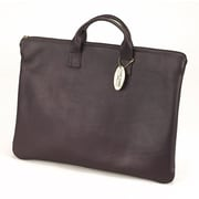 Claire Chase Zippered Folio with Handle; Caf