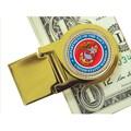 American Coin Treasure Goldtone Quarter; Marines Washington