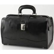 Alberto Bellucci Verona Giotto 14.75'' Leather Carry-On Duffel; Black