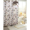 Carnation Home Fashions EZ On Circles Fabric Shower Curtain