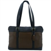 Leatherbay Commuter Laptop Tote Bag; Antique Tan