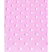 Carnation Home Fashions Lauren Dobby Polyester Fabric Shower Curtain; Rose