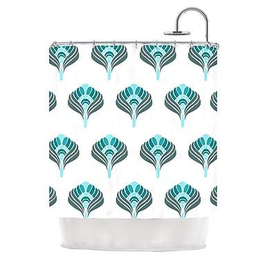KESS InHouse Peacock Shower Curtain