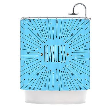 KESS InHouse Fearless Shower Curtain