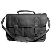 David King Leather Portfolio Briefcase; Black