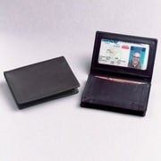 Winn International Black Cowhide Nappa Supple Leather Two Fold ID Business Card Case
