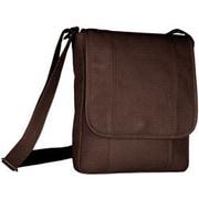David King Vertical Men's Shoulder Bag; Caf  / Dark Brown