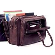 Winn International Cowhide Leather Briefcase; Brown