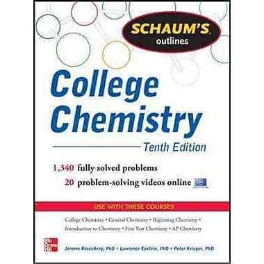 Schaum's Outlines College Chemistry Jerome L. Rosenberg, Lawrence Epstein, Peter Krieger Paperback