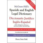McGraw-Hill's Spanish and English Legal Dictionary Henry Saint Dahl Hardcover