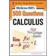 McGraw-Hill's 500 College Calculus Questions Elliott Mendelson Paperback