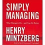 Simply Managing Henry Mintzberg Blackstone Audio