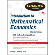 Schaum's Outline of Introduction to Mathematical Economics Edward Dowling Paperback