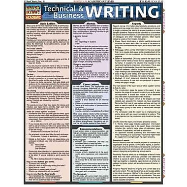 Technical and Business Writing Inc. BarCharts Loose Leaf