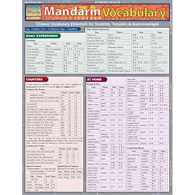 Mandarin Vocabulary (Quick Study Academic)