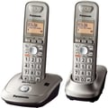 Panasonic® KX-TG4012N 1 Line Expandable Digital Cordless Phone W/2 Handset, 50 Name/Number