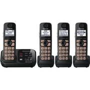 Panasonic® KX-TG4734B Expandable Digital Cordless Answering System W/4 Handset, 50 Name/Number