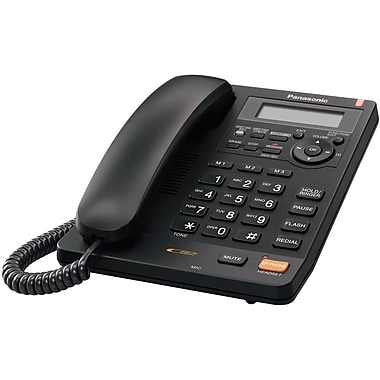 Panasonic KX-TS620B Single Line Corded Office Telephone, Black