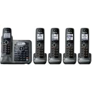 Panasonic® KX-TG7645M Link-2-Cell Bluetooth Convergence Phone W/5 Handset, 3050 Name/Number