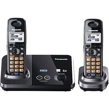 Panasonic® KX-TG9322T 2 Line Expandable Digital Cordless System W/2 Handset, 100 Name/Number