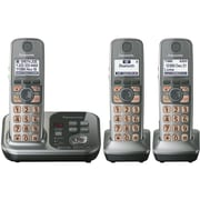 Panasonic® KX-TG7733S Link-2-Cell Bluetooth Convergence Phone W/3 Handset, 3050 Name/Number