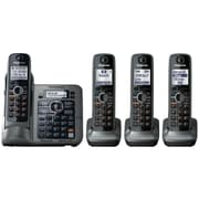 Panasonic® KX-TG7644M Link-2-Cell Bluetooth Convergence Phone W/4 Handset, 3050 Name/Number
