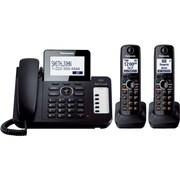 Panasonic® KX-TG6672B Digital Cordless Answering System W/Large LCD/1 Corded/2 Cordless Handset