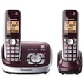 Panasonic® KX-TG6572R 1 Line Expandable Digital Cordless Phone W/2 Handset, 50 Name/Number, Red Wine