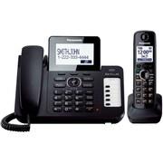 Panasonic® KX-TG6671B Digital Cordless Answering System W/Large LCD/1 Corded/1 Cordless Handset