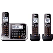 Panasonic® KX-TG7873S Link-2-Cell Bluetooth Convergence Phone W/3 Handset, 100 Name/Number