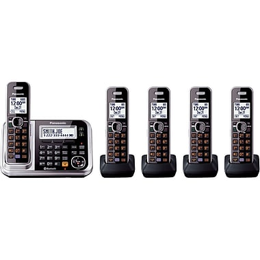 Panasonic® KX-TG7875S Link-2-Cell Bluetooth Convergence Phone W/5 Handset, 100 Name/Number