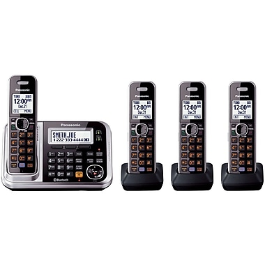 Panasonic KX-TG7874S Single Line Cordless Cellular Convergence Solution with 4 Handsets, Black