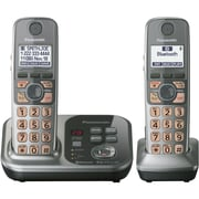 Panasonic® KX-TG7733S Link-2-Cell Bluetooth Convergence Phone W/2 Handset, 3050 Name/Number