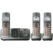 Panasonic® KX-TG7743S Link-2-Cell Bluetooth Convergence Phone W/3 Handset/2 Keypad, 3050 Name/Number